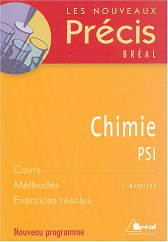 Chimie : PSI