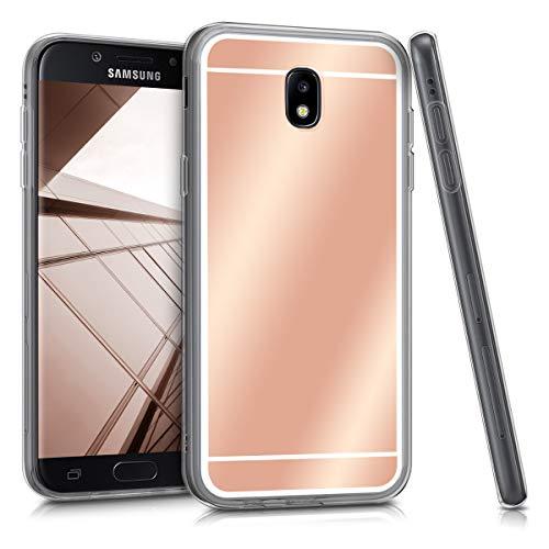 kwmobile Samsung Galaxy J7 (2017) DUOS Hülle - Handyhülle für Samsung Galaxy J7 (2017) DUOS - Handy Case in Rosegold spiegelnd