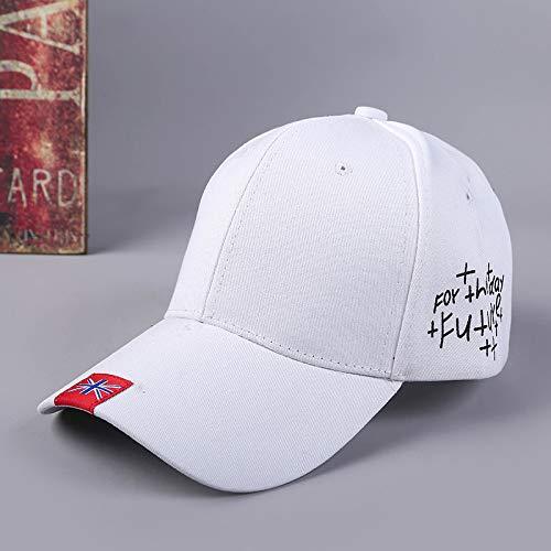 mlpnko Kreative Seite Buchstaben Baseball Cap Persönlichkeit Cap weiß einstellbar