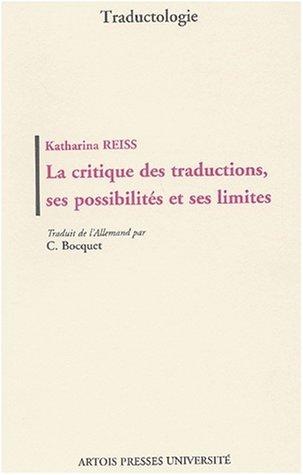 La critique des traductions, ses possibilits et ses limites