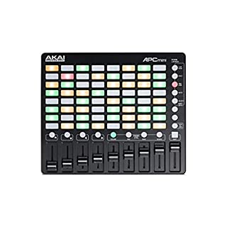 AKAI Professional APC Mini | Compact USB Bus-Powered 64-Button  Launcher with 8 x 8 Clip Matrix, 8 Assignable Faders and 1 Master Fader For Ableton Live