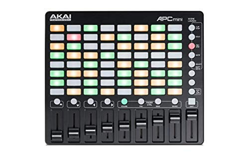 AKAI Professional APC Mini Kompakter USB Bus Powered 64 Button Clip Launcher für Ableton Live (Musik Mixer)