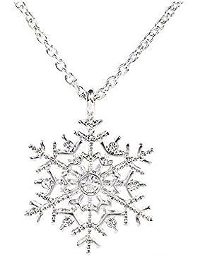 Prinzessin zu Stolberg - Halskette mit Anhänger Schneeflocke veredelt mit Zirkonia Kristallen