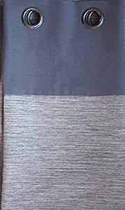 Linder 1207/90/90511 Rideau avec 8 Oeillets Fusil Rond Coton/Polyester Gris 135 x 260