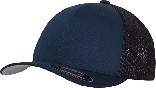 Flex Fit Trucker Cap (Flexfit Mesh Trucker Kappe, blau (Navy), S/M)