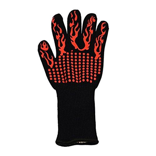 Yujum 1pc / 2ST 5 ° C / 932 ° F Hitzebeständige Silikon Anti-Rutsch-Ofen Kleber Handschuhe Backen Kochen Grillen Helfer Lange Mitt Köche Mitt