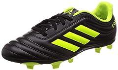 Idea Regalo - adidas Copa 19.4 Fg J, Scarpe da Calcio Bambini e Ragazzi, Nero (Core Black/Solar Yellow/Core Black Core Black/Solar Yellow/Core Black), 36 EU