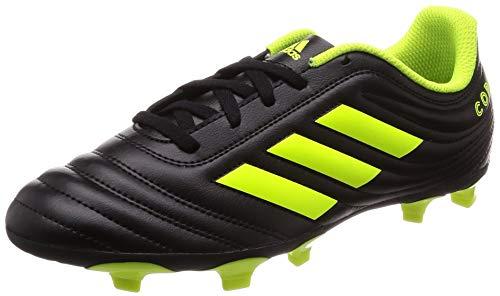 adidas copa 19.4 fg j, scarpe da calcio bambini e ragazzi, nero (core black/solar yellow/core black core black/solar yellow/core black), 37 1/3 eu