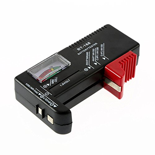 Medidor Tester Comprobador de Carga para Baterías y Pilas Tipo AA AAA 9V y Boton 2354