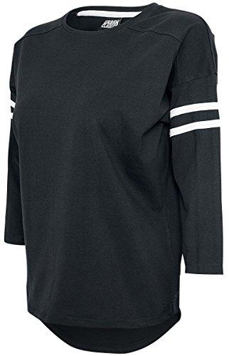 Urban Classics Ladies Sleeve Striped L/S Tee Manches Longues Femme noir/blanc noir/blanc
