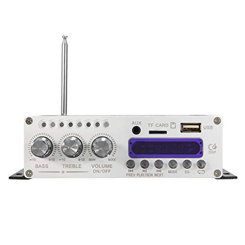 Rekkle HY-V10 20W x 2 2CH Audio Hi-Fi Bluetooth de Radio del Coche Amplificador de energía Audio FM Moto Auto Reproductor Digital de Color al Azar