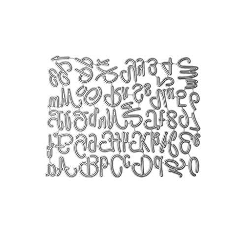 VIccoo Cutting Dies, Brief Alphabet Digital Metall Stanzformen Schablone DIY Scrapbooking Album Stempel Papier Karte Präge Handwerk Dekor -