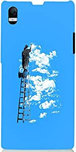 Snoogg Painting The Clouds 2676 Case Cover For Sony Xperia Z1 L39H