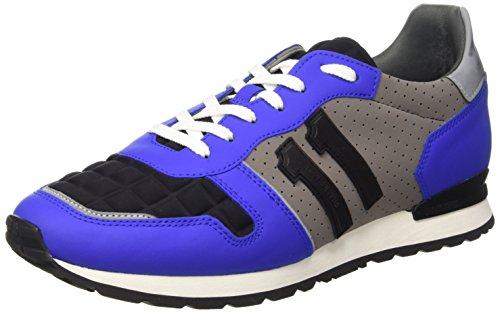 Bikkembergs Mant 650 L.Shoe M Lycra/Rubber Leather Scarpe Low-Top, Uomo, Blu (Bluette), 43