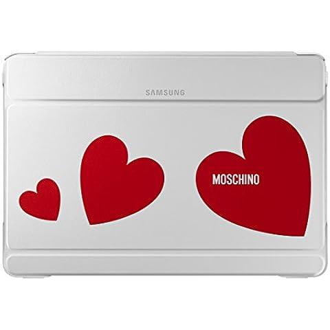 Samsung Diary Moschino - Funda para Samsung Galaxy Note Pro 12.2, color blanco y rojo corazón