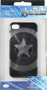 PDP IP1629 Coque pour iPhone 4S Captain America Shield Noir/Blanc