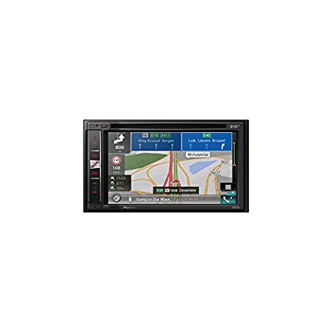 Pioneer Naviceiver AVIC-F980DAB | High Quality Multimedia Autoradio | 6,2 Zoll Doppel Din Radio mit Navi | DAB+ | Bluetooth Freisprechfunktion | RDS-TMC | Touchscreen | CD DVD Player | AV |