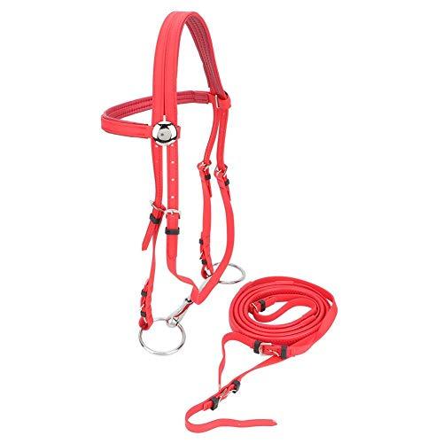 HEEPDD Briglie da Equitazione, Briglia a Cavallo in PVC di Alta qualità Imbracatura a...