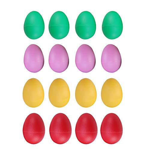Healifty 20 Stück Kunststoff Rasseleier Musikeier Shaker Eier Maracas Shaker Musik Percussion Instrumente Spielzeug für Baby Kinder