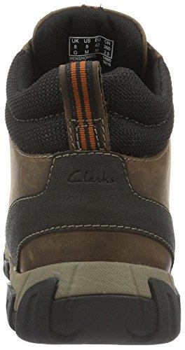 Clarks Herren Walbeck Kurzschaft Stiefel Braun (Brown WetherProof Lea)