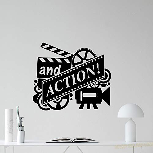 Action Movie Wall Decal Film Reel Cinema Heimkino Vinyl Aufkleber Dekor Abnehmbare Kunstwand Für Schlafzimmer Home Decoraiton 48X42 cm