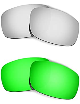 Hkuco Plus Mens Replacement Lenses For Oakley Crankshaft - 2 pair Combo Pack