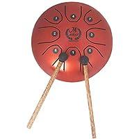 MMBAT Mini Tambor de Acero DE 5,5 Pulgadas, Mini Tambor de Mano Brahma para Camping, Yoga, meditación, Terapia de música