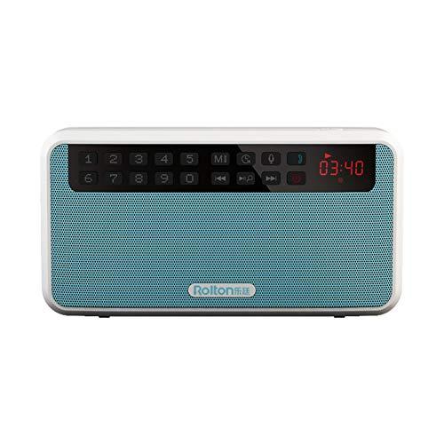 NAttnJf Bluetooth Lautsprecher, HiFi Stereo Bluetooth Lautsprecher Tragbare Super Bass Sound Box MP3 Musik-Player Blau Iluv Mini-mp3