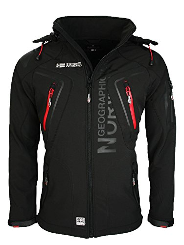 3I3 Geographical Norway Tambour Herren Softshell Jacke Outdoor Schwarz XXL