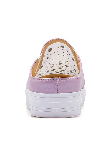 ZQ Scarpe Donna - Mocassini - Formale / Casual - Comoda - Piatto - Tulle / Finta pelle - Rosa / Viola / Bianco , purple-us8 / eu39 / uk6 / cn39 , purple-us8 / eu39 / uk6 / cn39 white-us8 / eu39 / uk6 / cn39