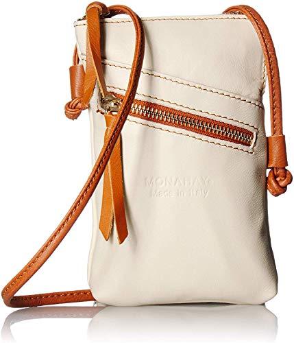 italienische Leder Handy Schultertasche,Handytasche, reisePass Umhängetasche, Kleine Umhängetasche für Damen Mini Sack Mädchen Frauen (Beige/Tan)