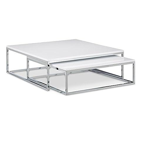 Table Basse Metal - Relaxdays Table basse avec plateau en bois