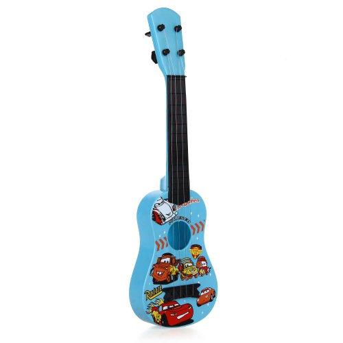 Kinder mini Gitarre Kindergitarre Spielzeuggitarre Spielzeug 4 Saiten Blau