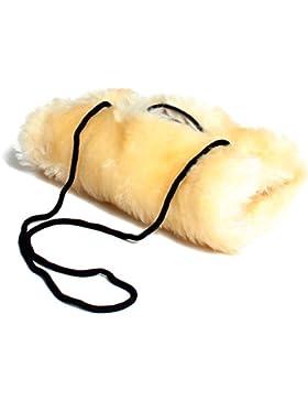 Brubaker Mujer Muff–Calentador de manos de piel sintética con iluminarán bolsillo con cremallera