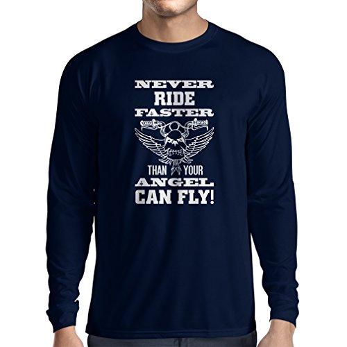 T-Shirt mit langen Ärmeln Motorradkleidung Blau Mehrfarben