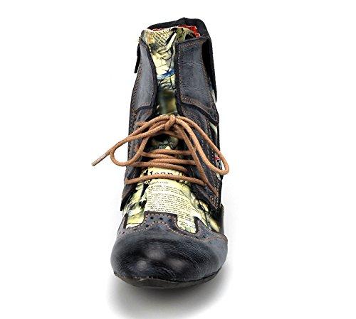 TMA , Bottines à lacets classiques femme Schwarz(Grau)