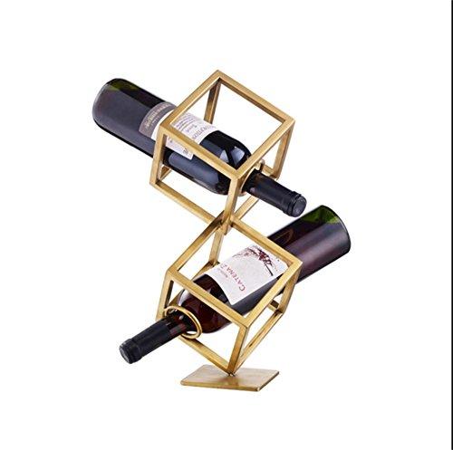 MinMin Weinregal - hochwertige multifunktionale geometrische Weinregal, Weinschrank, stilvolle einfache Weinregal (Einzelgröße 15CMX15CM) Weinlagerung (Size : M)