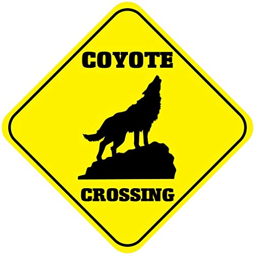 St574ony Metal Sign 12x12 Inches Poster Plaque Funny Sign Metal Plaque Coyote Crossing Funny Metal Novelty Sign
