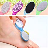 Colour Blast 4 In 1 Foot File With Pedicure And Manicure Brush Multi Use Pedicure Paddle Brush(Cleanse, Scrub, File And…