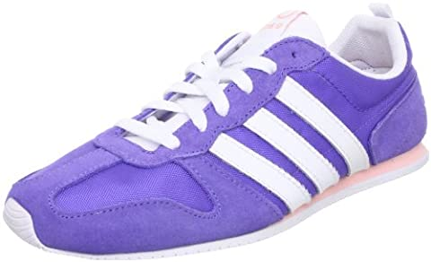 Adidas Runneo Slim Jog W Schuhe Sneaker Turnschuhe Trainers lila Damen Wildleder / Textil, Joy Purple / White / Haze Coral, 39 1/3