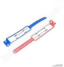 IndoSurgicals Patient Identification Band for Pediatric/New Born Baby, PINK Color (Pack of 100 Pcs.)