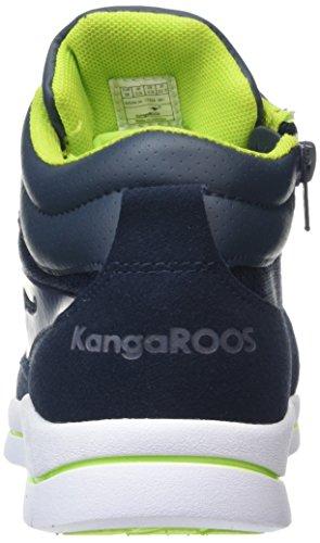 KangaROOS - Kb-3, Sneaker alte Bambino Blu (Blu (dk navy/lime 481))