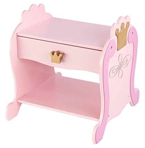 KidKraft 76124 Prinzessin Beistelltisch und Nachttisch mit Schublade aus Holz für Kinder - Kinderzimmer Möbel