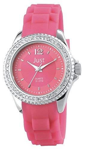Just Watches 48-S3858-PI - Orologio da polso da donna, cinturino in caucciù colore rosa
