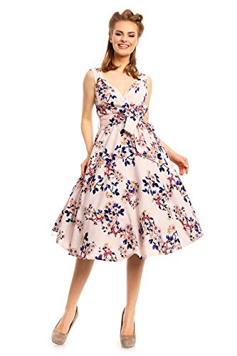 Années 1950 rétro Vintage Pin Up Rockabilly Prom Swing Rose Robe Florale
