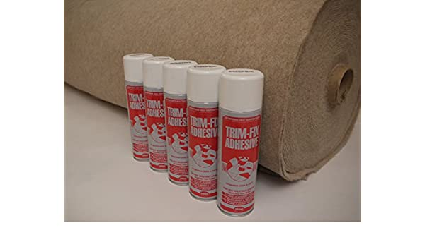 4m x 2m Silver Coloured Super Stretch Van Lining Carpet Including 4 x Trimfix Glue