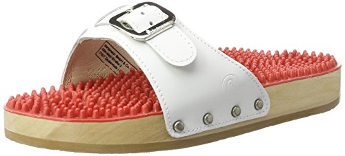 Berkemann Unisex-Erwachsene Noppen-Sandale Pantoletten, Weiß, 35.5 EU