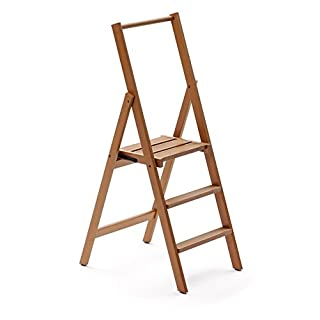 "ARREDAMENTI ITALIA 3-Stufen Leiter Kimora, Holz - zusammenklappbar - 4 Stufen -Farbe: Kirsche Holz AR-It il Cuore del Legno"""