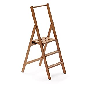 Arredamenti Italia Kimora 3 Step Ladder, Cherry Wood, Brown, Double