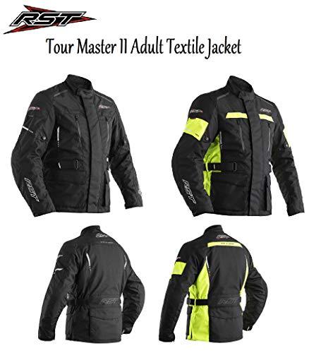 RST Tour Master II Textile - Giacca da Uomo per Motociclisti, Scooter, Motociclisti, Cruise, Impermeabile, con Approvazione CE, Nero, S/40